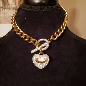 JUICY COUTURE HEAVY Gold link signature necklace.